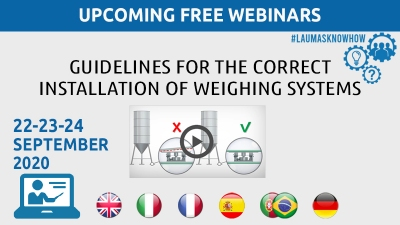 WEBINAR: Guidelines for the installation of weighing systems