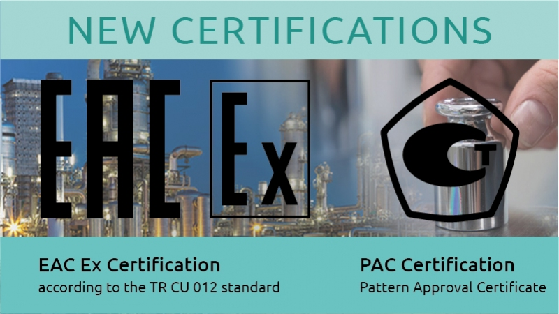 EAC Ex and PAC: new certifications