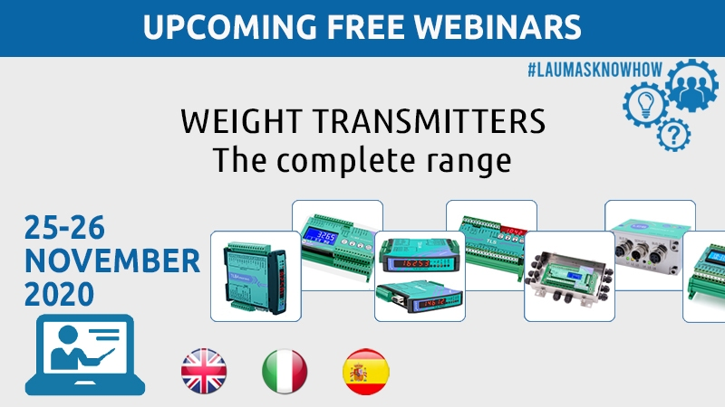 Webinar - LAUMAS weight transmitters - the complete range